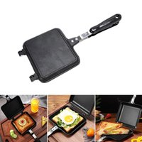 Gas Non-Stick Sandwich Maker Iron Bread Toast Breakfast Machine Waffle Pancake Baking Barbecue Oven Mold Grill Frying Pan Pans