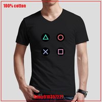 Men's T-Shirts Retro Splash Design PS Gaming Vintage PS5 PS2 PS3 PS4 Xbox Game Play Station V-neck T-Shirt Cozy And Breathable Deal Shirt