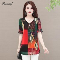 Summer Style O Neck Chiffon Women Blouse Shirt Plus Size Ruffle Womens Tops And Blouses Blusas Camisas Mujer L-5XL Women's & Shirts