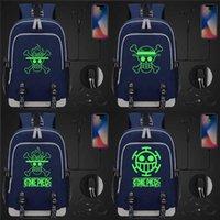 Rugzak groen lichtgevende anmie cartoon een stuk aap d luffy usb jongen meisje boek schooltas vrouwen tieners mannen laptop packsack