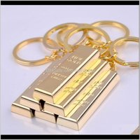 Jewelry Finder Luxury Man Car Rings Metal Creative Chain Gold Bar Key Buckle Drop Delivery 2021 Jatr8