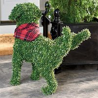 Garden Decorations Decorative Peeing Dog Topiary Flocking Sculptures Statue Without Ever A Finger To Prune Or Water Pet Decor