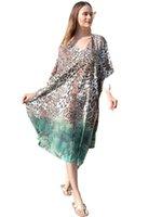Women Summer Beach Dress Sundress Comfortable Chiffon loose large size seaside holiday skirt swimsuit blouse bikini cover ups