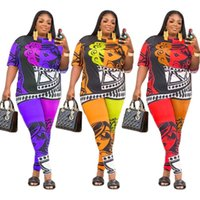 Plus Size Tracksuits 5x Women Clothing Two Piece Set Streetwear Summer Tops And Seamless Leggings Outfits Tracksuit Jogger Drop