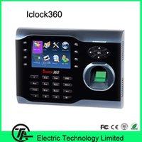 3.5 인치 터치 스크린 ICLOCL360 지문 시간 시계 8000 사용자 용량 출석 통제 통제
