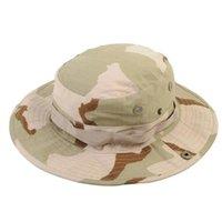 Kamuflaj Ordusu Boonie Şapka Kova Askeri Taktik Kapaklar Sunhat Orman Savaş Yürüyüş Balıkçılık Avcılık Camo Geniş Brim Şapkalar