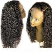 Human Hair Lace Front Wigs Kinky Curly Virgin Brazilian Deep Part Wigs Glueless 360 Frontal Full Lace Wigs Pre Plucked With Baby Hair
