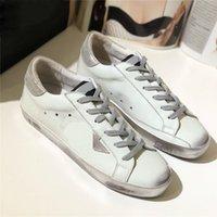 Tasarımcı Lüks İtalya Marka Sepetleri Altın Sneakers Süper Yıldız Ayakkabı Pullu Klasik Beyaz Do-Eski Kirli Gooses Adam Kadınlar Casual Ayakkabılar Kutusu Ile