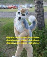 Kürklü Husky Köpek Kurt Fursuit Maskot Kostüm Yetişkin Karikatür Karakter Kıyafet Takım Elbise Ticari Promosyon Amerikan Jubilee ZZ7580