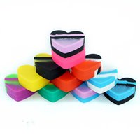17ml Oil jar wax dab jars silicone conatiner smoking accessories heart shaped nonstick containers use for storage dabber tools