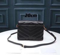 여성 패션 어깨 가방 스퀘어 팻 락 체인 가방 20cm 24cm 30cm 진짜 가죽 숙녀 대용량 핸드백 고품질 이불의 메신저 크로스 바디