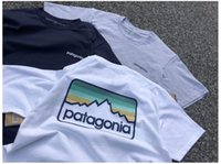 Футболки, тройник, топы, рубашка, рубашки поло Европейская и американская футболка моды в этом году Патагония мужская свободная хлопчатобумажная заводская фабрика