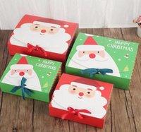 Caja de regalo grande de la víspera de Navidad Santa Claus Diseño de hadas Kraft Papercard presente Favor de la fiesta Favor de la caja Red Green Gifts Cajas de paquete DHL 496