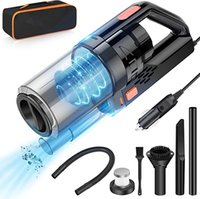 Car Vacuum with Powerful Suction Portable Cars Vacuums Cleaner 16.4 Ft Corded 12V 150W 7500PA Cleaning Kit Three-Layer HEPA Filter for Deep Cleanings