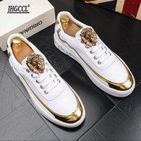 Deluxe Mäns Små Vit Skor British Fashion Sports Casual Board Låg Top Andningsbara Zapatos Hombre A6