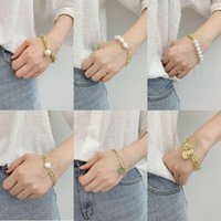 Link, Chain CANZE Women Vintage Bohemian Baroque Pearl Bracelet Roman Style Hand Exquisite Jewelry