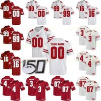 NCAA College Jerseys Wisconsin Badgers 6 Danny Davis III 57 Jack Sanborn 23 Jonathan Taylor 99 JJ 와트 맞춤 축구 스티치