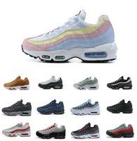 الجملة الترا 95 og og x 20th الذكرى الرجال الجري الأحذية الرياضية 95S المدرب الهواء الأسود الوحيد الرمادي الأزرق جودة عالية chaussures tennis حذاء