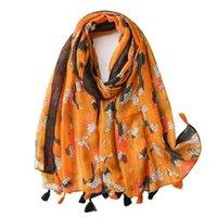 Scarves 2021 Women Fashion Tassel Viscose Shawl Scarf High Quality Wrap Pashmina Stole Bufanda Muslim Hijab Bandana Ladies