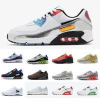 90 Viotech Multi Mens Running Shoes Air90 Worldwide White Blue Hyper Turquesa Sneaker Design Clássico 90s Maxes Infravermelho Preto Seja Verdadeiro Esportivo Trainers