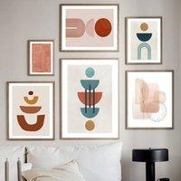 Peintures Abstrait Geometry Line Dessin d'encre Brosse Art Art Art Print Toile Peinture Nordic Poster Moderne Photos pour le salon Décor