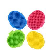 Dog Bath Brush Comb Silicone Pet SPA Shampoo Massage Brush Shower Hair Removal Comb For Pet Cleaning Grooming Tool CJ11
