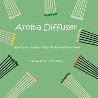 Aromatherapy Эфирное масло цветное летучие волокна Rattan Numbence Sticks 6 шт. Пакет Аромат Аксессуары 5 Цветов Дополнительно