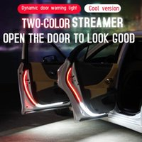 Car Door Opening Warning LED Lights Welcome Decor Lamp Strips Anti Rear-end Collision Safety Universal Auto Accessories Interior&External
