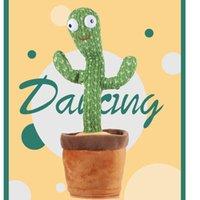 Home Decor Dancing Cactus TikTok Same Model Fesvival Favor 120 Songs USB Dancer Speaker Repeat Say Talk Talking Baby Stuffed Plush Toys For Kids Party Favor
