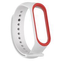Silicone Bracelet double color WristBands sport Wrist Strap for Xiaomi smart watch Mi band 4 3