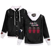Women's Hoodies & Sweatshirts 2021 Couple Jacket Coat 2D Pattern Korean Drama Digital Printing Short Sleeve T-shirt Adult Denim Streetwear