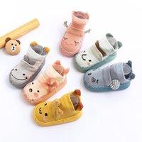 Calcetines de primavera y otoño Bebé Bebé suave Barco infantil Dispensador para niños Sin deslizamiento Algodón Niño Niño Incluso zapatos Orejas