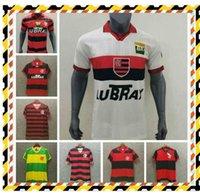 Top Vintage Jersey Cr 2017 2017 2019 2009 1995 Flamengo Fussball Jersey Flamenco 1988 1990 1982 Retro Camisa de Futebol Guerrero Diego Jersey