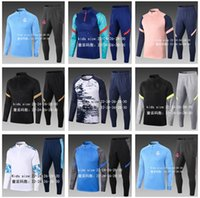 Top 2021 Kinder Fußball Trainingsanzug Set Fußball Trainingsanzug Jacke 2022 Jungen Survetement Foot Chandal Tuta Jogging
