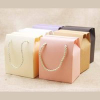 Gift Wrap 30pcs Paper Box With Handle Multi Color Cookie Candy Kraft Bag For Wedding Birthday Party Decoration Package
