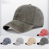 Party Hats Men's and Women's Wash Trucker Hat Summer Outdoor Travel Sun Shading Caps Street Trendsetter Baseball Cap 14 Colors T500885
