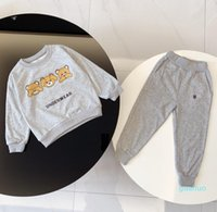 Tasarımcılar Çocuk Hoodie Suit Giyim Setleri Erkek Kız Ceket Kaban Pantolon Bebek Kazak Eşofman Açık Çocuk Spor Erkek Bebek Sportsw