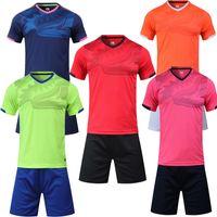 2019 2020 Nuevos Jerseys de fútbol Hombres Sport Running Ciclismo Kits de fútbol personalizado Logotipo Número 5 Colores Uniformes de fútbol Trajes