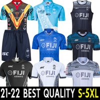 2021 Jersey de rugby Sevens Shirt olympique Thaïlande Qualité19 20 Fidji National 7's Rugby Jersey S-3XL