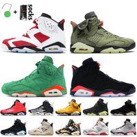 Jumpman 6 6s Shoes de baloncesto para hombre 2021 Carmine Retro Travis Scotts Cactus Jack Gatorade Negro Infrarrojo Hare Sneakers Tech Chrome unc PSGS N
