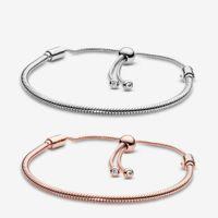 Luxus 925 Sterling Silber Armbänder für Frauen Schmuck DIY Fit Pandora Charme Snake Kette Slider Charms Armband Design Mode Klassische Dame Geschenk mit Original Box