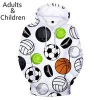 Men's Hoodies & Sweatshirts 3D Print Many Kinds Of Balls Men Women Fashion Children Hoodie Soccer Boy Girl Pullovers Clothes