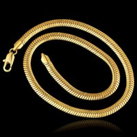 Mens Herringbone Necklace Yellow Gold Filled Chain Thick 9mm Snake Bone Link Fashion Jewelry Chains