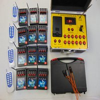 Wireless Stage 48 Cues Feestartikelen Vuurwerk Firing System Smart Remote Radio Fire Double Switch 433MHz CE Massed Speciale effecten Kerstcadeau elektrische draad
