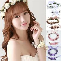1pc Cute Women Handmade Floral HeadbandFlower Hairband Bridal Headdress Bohemia FlowerCrown Wedding Garland 3cm Hair Accessories