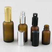 Storage Bottles & Jars 100ml 50ml 30ml 20ml 15ml 10ml 5ml Frost Amber Glass Essential Oil Bottle With Pump 1oz Lotion Cream 12pcs