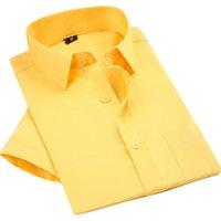 QISHA 2021 Manga Curta Mens Moda Verão Branco Negócios Camisas De Ouro Preto Trabalho Camisa Homens China Imported Roupas 1xxx Vestido Masculino