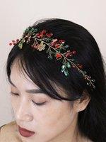 Headpieces Festivals Women Headbands Rhinestones Crystal Alloy Girls Christmas Hair Decoration Wedding Party Vine For Bride