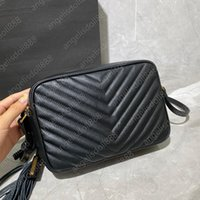 Bolso bolso de lujo diseñadores bolsas 2021 con Sn Caja original Top 7A Calidad Negro Calfskin Negro Cuero genuino Crossbody Monederos Shouler Bolsos Lou Tassel Bag Bolsa