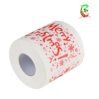 Merry Christmas tuvalet kağıdı yaratıcı baskı desen serisi rulo kağıtları moda komik yenilik hediye çevre dostu taşınabilir lla7344